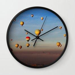 Fairytale dreams of hot air balloons Wall Clock