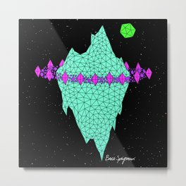 SPACEBERG Metal Print