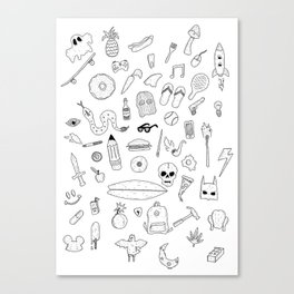 Items Canvas Print