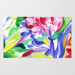 Abstract Roses 3 Rug