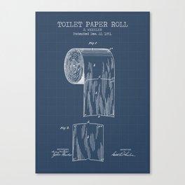 Toilet Paper Roll Blueprint Canvas Print