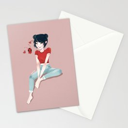 space buns Stationery Cards