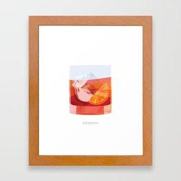 Cocktail Hour: Negroni Framed Art Print