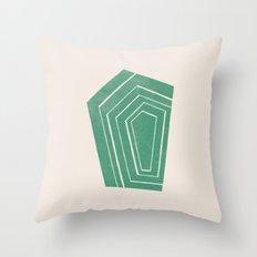 Geode II - in Emerald Throw Pillow