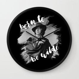 Born to be Wilde Wall Clock