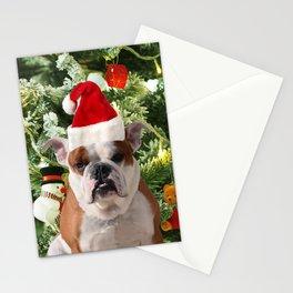 Santa Hat Bulldog Christmas Tree Snowman Gift Box Stationery Cards