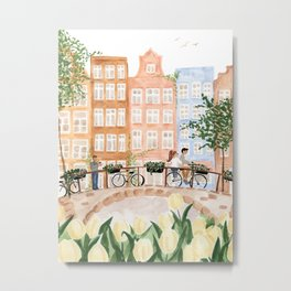 Amsterdam in the Spring Metal Print