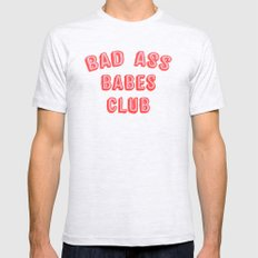 BAD ASS BABES CLUB Mens Fitted Tee Ash Grey SMALL