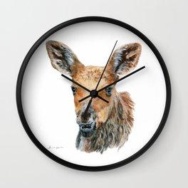 Little Moose by Teresa Thompson Wall Clock