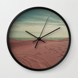 Pink dunes of Maspalomas Wall Clock