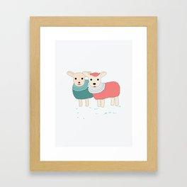 sheep sweet dreams Framed Art Print