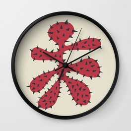 Matisse Inspired Red Shape Wall Clock