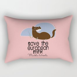 Save the European- mink! (with text) (FIEB) Rectangular Pillow