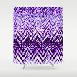 1000 Little Islands (violet-purple) Shower Curtain