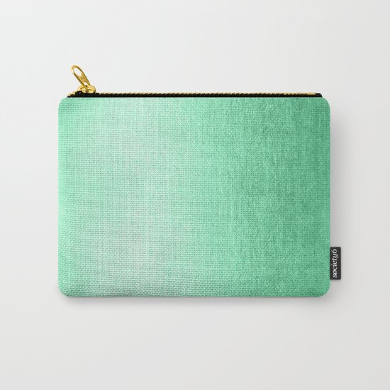 Mint Meringue Shimmer Carry-All Pouch