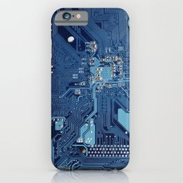 Electronic circuit board iPhone Case