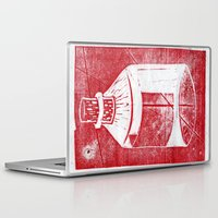 whisky Laptop & iPad Skins featuring Ol' Whisky Bottle by Shane Haarer