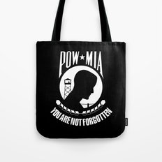 The POW MIA (Prisoner of War - Missing in Action) flag Tote Bag