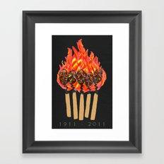 ∆Shirtwaist Fire Framed Art Print