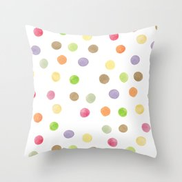 Polka Dot Surprise Throw Pillow