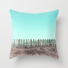 Candy fences Throw Pillow