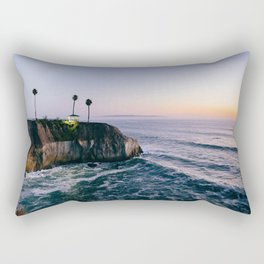 Cliff at Sunset Rectangular Pillow