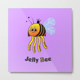 Jelly Bee Metal Print