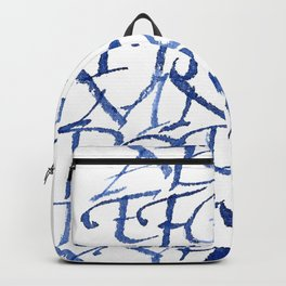 Calligraphy capitals Backpack