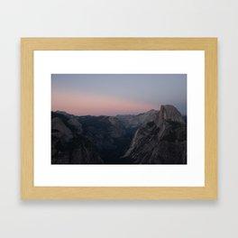 Yosemite Valley after Sunset Framed Art Print