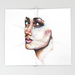 Portrait Pointed Out Throw Blanket
