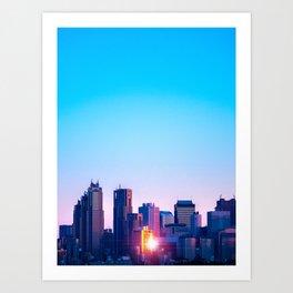 Shinjuku Sunrise Art Print