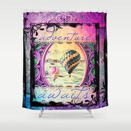 Girly Gothic Balloon Adventures Shower Curtain