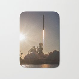 Spacex Rocket Launch Bath Mat
