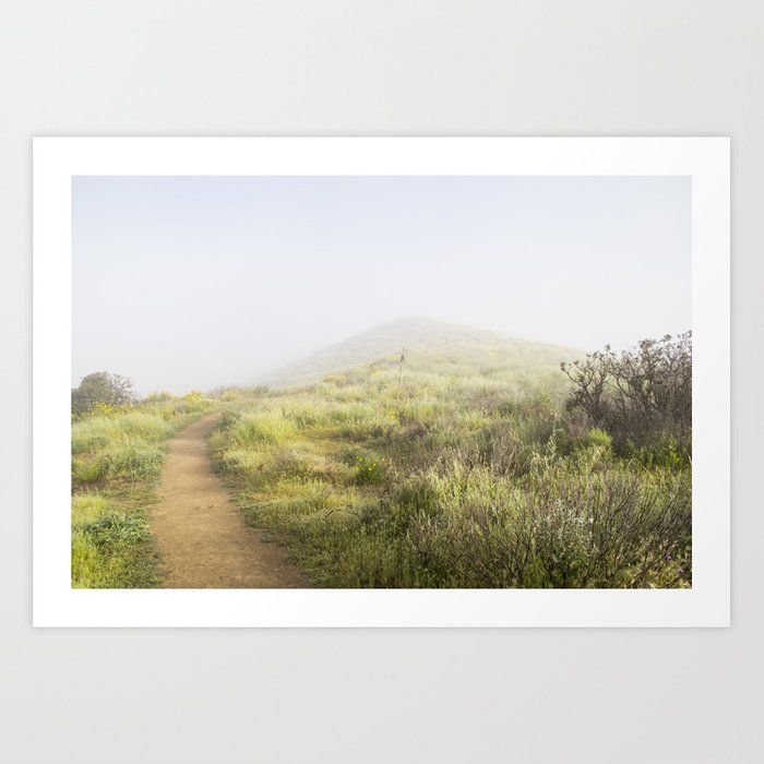 The Foggy Trail Art Print
