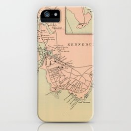 Vintage Kennebunkport & Cape Arundel ME Map (1894) iPhone Case