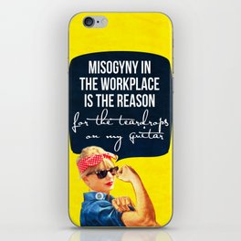 Misogyny in the workplace iPhone Skin