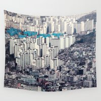 metropolis Wall Tapestries featuring Metropolis by Karolina Ostrowska