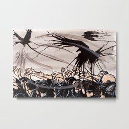 CrowScene  Metal Print