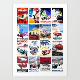 Monaco Grand Prix 1930 1966 Art Print
