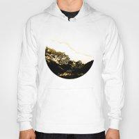 snowboarding Hoodies featuring Golden Mountain by Schwebewesen • Romina Lutz