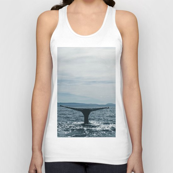 Whale in the sea Unisex Tank Top