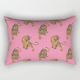 tiger print pink Rectangular Pillow