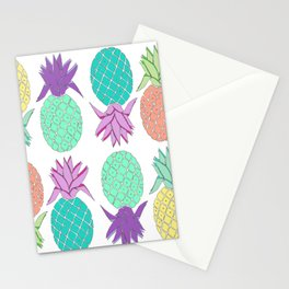 pineapple white Stationery Cards