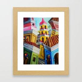 Remedios, Cuban town. Miguez Art Framed Art Print