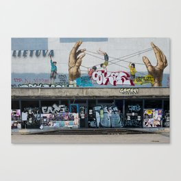 "Kino teatras ""Lietuva"" Canvas Print"