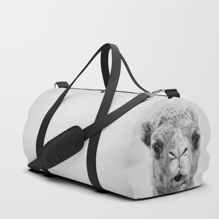 Camel__Black_&_White_Duffle_Bag_by_Gal_Design__SMALL__19_x_95