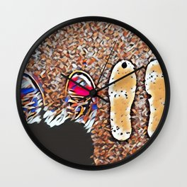 Miss You - Colorful Mosaic Wall Clock