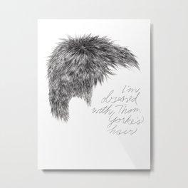 Thom Yorke's Hair Metal Print