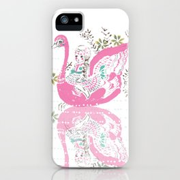 Swan Girl iPhone Case
