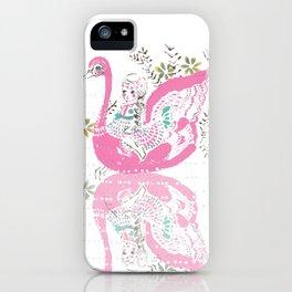 Swan Girl iPhone Case